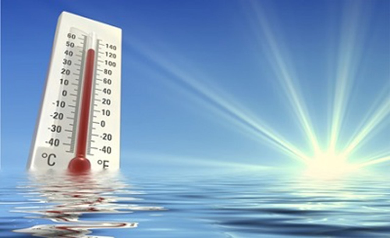 Thermomètre au soleil
